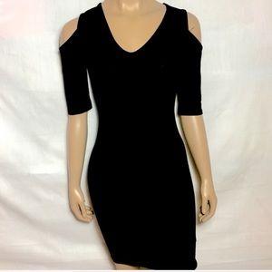 ASOS Cold Shoulder Tight Little Black Dress